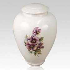 Pansy Ceramic Cremation Urn