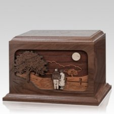Together Again Walnut Wood Cremation Urn