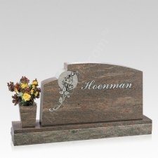 Together Companion Granite Headstone