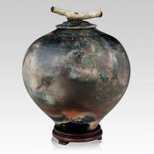 Togetherness Raku Cremation Urn For Two