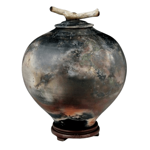 Togetherness Raku Cremation Urn For Two