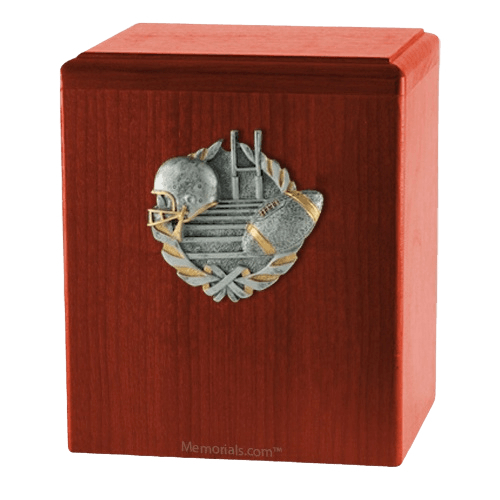 Touchdown Cherry Cremation Urn