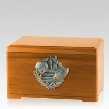 Touchdown Fan Oak Cremation Urn