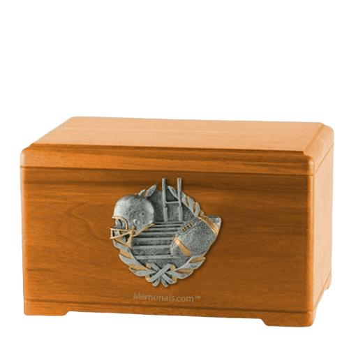 Touchdown Fan Oak Cremation Urn