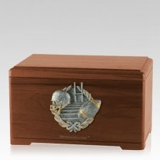 Touchdown Fan Walnut Cremation Urn