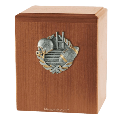 Touchdown Light Cherry Cremation Urn