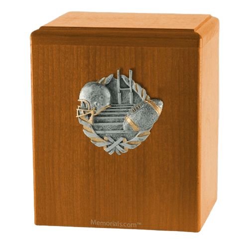 Touchdown Oak Cremation Urn