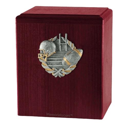 Touchdown Rosewood Cremation Urn