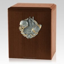 Touchdown Walnut Cremation Urn
