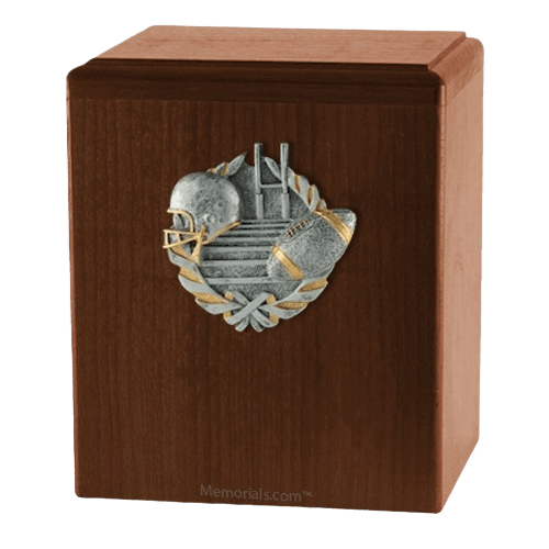 Touchdown Walnut Cremation Urn