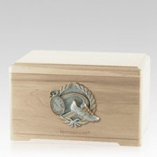 Track Fan Maple Cremation Urn