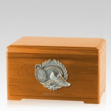 Track Fan Oak Cremation Urn