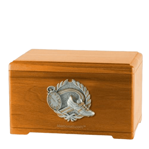 Track Fan Oak Cremation Urn