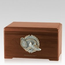 Track Fan Walnut Cremation Urn