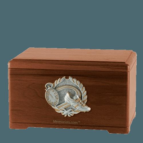 Track Fan Walnut Cremation Urn