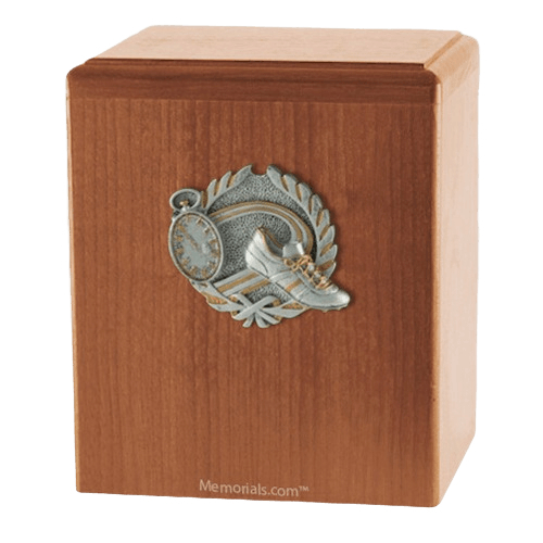 Track Light Cherry Cremation Urn