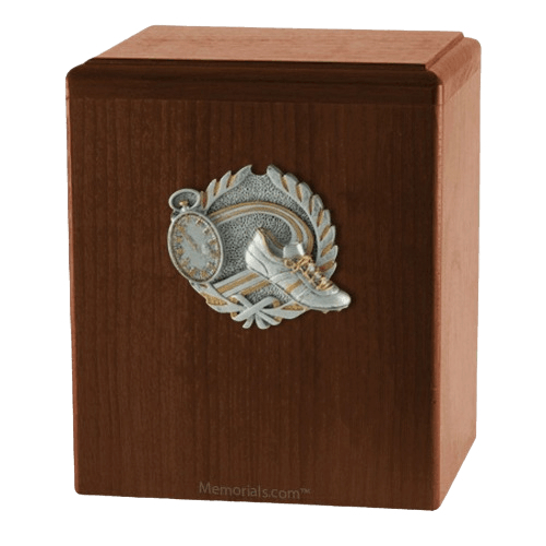 Track Walnut Cremation Urn