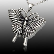 Traditional Butterfly Cremation Pendant