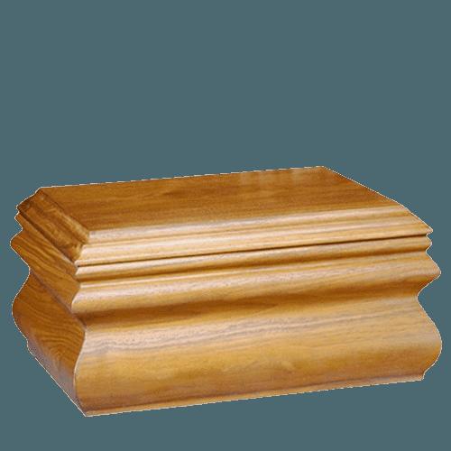Traditional Oak Companion Urn