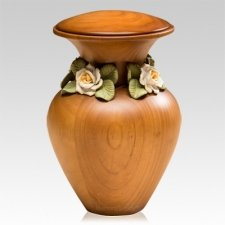 Tranquility Wood Cremation Urn