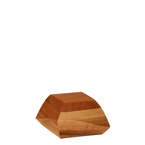 Trapezium Cherry Wood Keepsake Urn