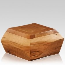 Trapezium Cherry Wood Urn