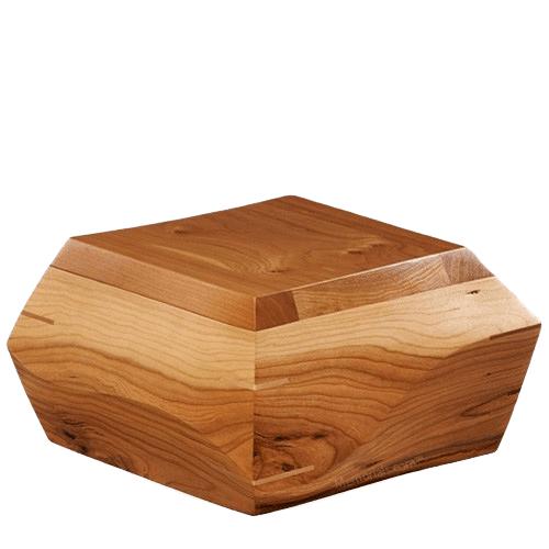 Trapezium Cherry Wood Urn