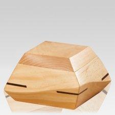 Trapezium Pine Wood Urn