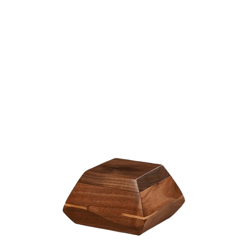 Trapezium Walnut Wood Keepsake Urn