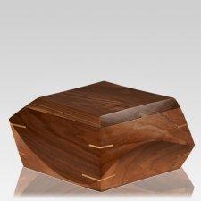 Trapezium Walnut Wood Urn