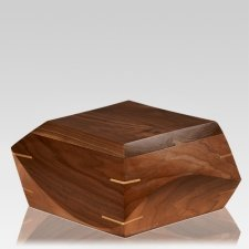 Trapezium Walnut Wood Urns
