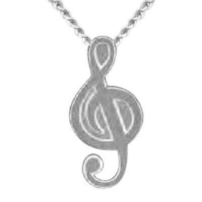 Treble Cleff Keepsake Pendant