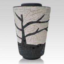 Tree Mosaic Cremation Urn