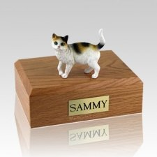 Tri-color Large Cat Cremation Urn