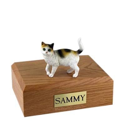 Tri-color Large Cat Cremation Urn
