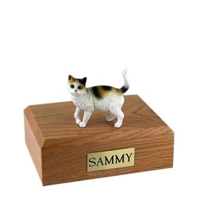 Tri-color Medium Cat Cremation Urn