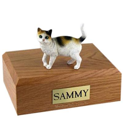 Tri-color X Large Cat Cremation Urn