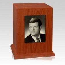 Tribute Photo Wood Cremation Urn
