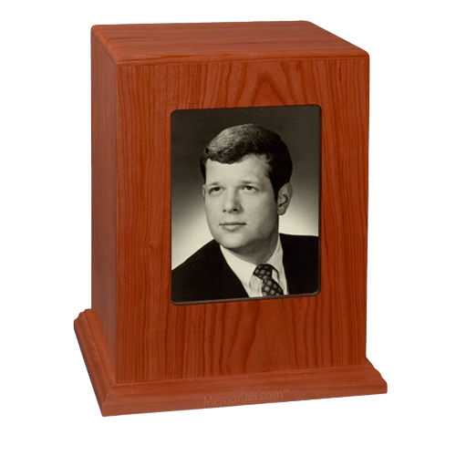 Tribute Photo Wood Cremation Urn