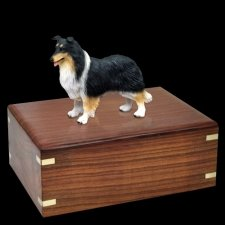 Tricolor Border Collie Doggy Urns