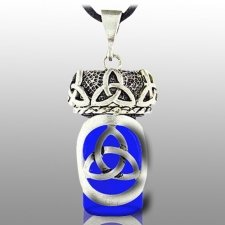 Triquetra Blue Pet Keepsake Necklace