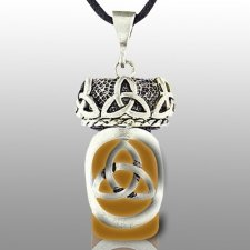 Triquetra Brown Pet Keepsake Necklace