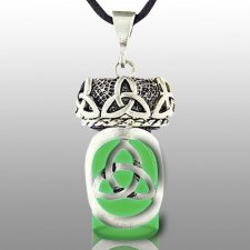 Triquetra Green Pet Keepsake Necklace