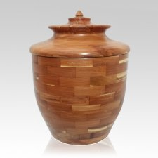 Triumph Wood Cremation Urn