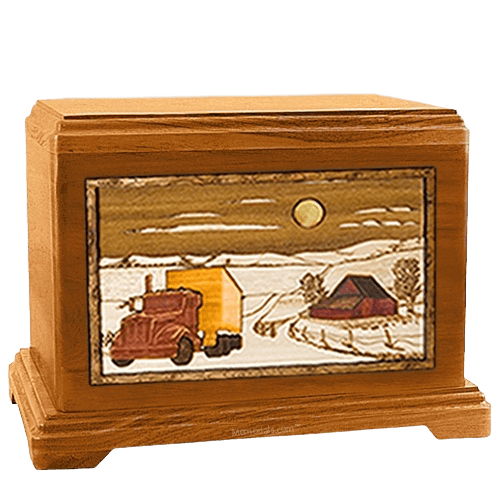 Trucker Mahogany Hampton Cremation Urn
