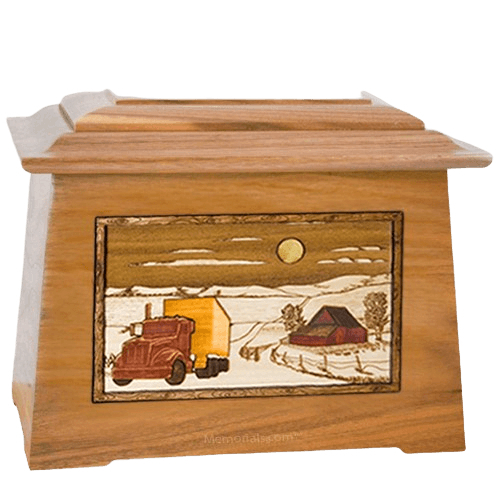 Trucker Oak Aristocrat Cremation Urn