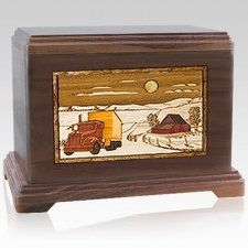 Trucker Cremation Urns For Two