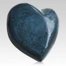 True Blue Heart Keepsake Urn