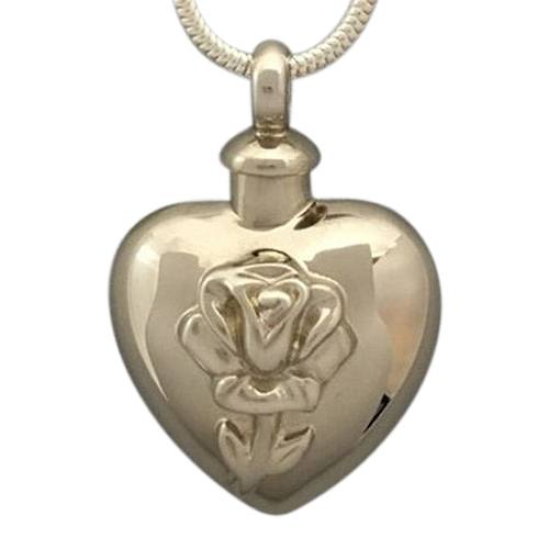 Tulip Heart Cremation Jewelry