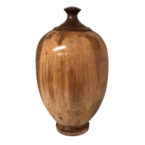 Tulip Wood Cremation Urn